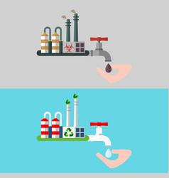 water concept clea waste vector image vector image