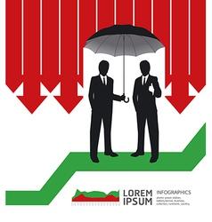 Businessman in Umbrella creative Finance safe vector image