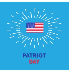 Flag shining effect HPatriot day Blue background vector image vector image