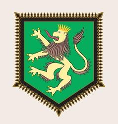 Heraldic lion crest vector image vector image