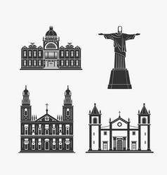 historic monument architecture of brazilian vector image vector image