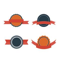 set of flat badges vintage badge labels vector image vector image