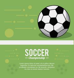 soccer sport ball championship image vector image vector image