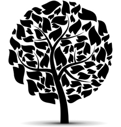 Black tree vector image vector image