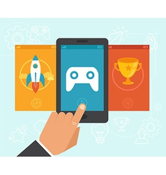 gamification concept vector image vector image