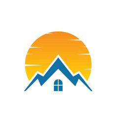 house sunset logo image vector image vector image