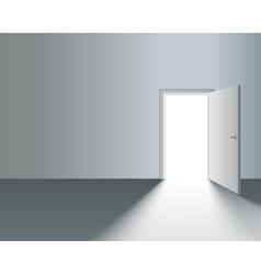 Open Door in Wall vector image