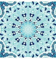 winter blue Seamless ornametal pattern vector image vector image