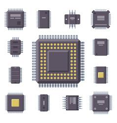 cpu microprocessors microchip vector image