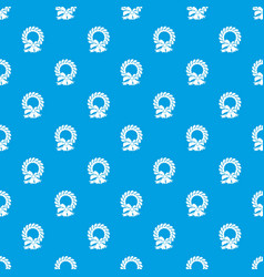 merry christmas wreath pattern seamless blue vector image vector image