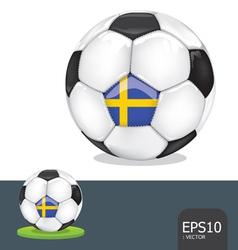 soccer ball sweden euro vector image