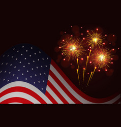 united states flag and celebration sparkling vector image vector image