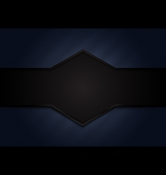 Abstract dark blue background with black space vector