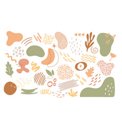 abstract nature organic geometric shapes set vector image