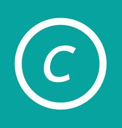 basic font letter c icon design vector image