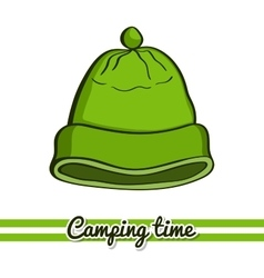 Camping Equipment Hat vector image