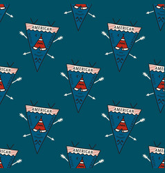 camping life pennants pattern hike adventure vector image
