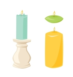 candle with fire vector image