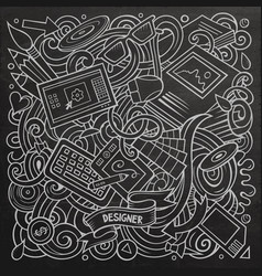 Cartoon doodles art and design vector