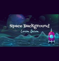 Cartoon fantasy space background alien planet vector