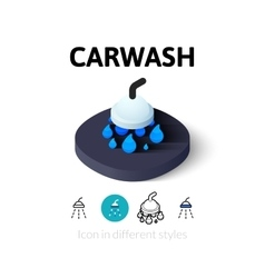 Carwash icon in different style vector image