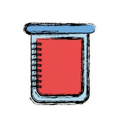 Chemical beaker icon vector
