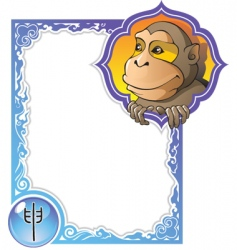 china horoscope 09 monkey vector image