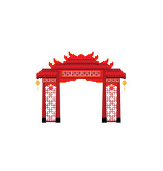 Chinese gate architecture isolated on white vector