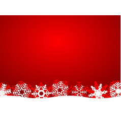 christmas background with snowflakes and light vector image