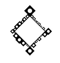 Circle badge decoration border - abstract modern vector