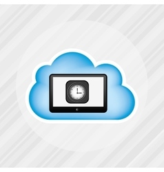 cloud computing design vector image
