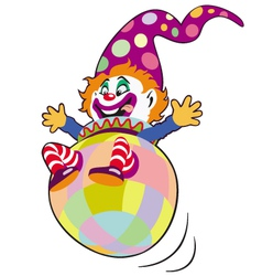 Clown toy vector