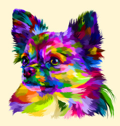 colorful head chihuahua vector image