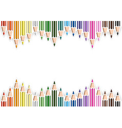 colorful pencils in cutout style vector image