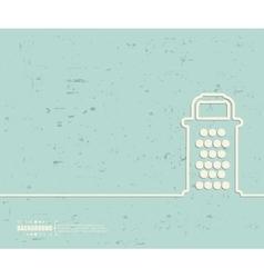 Creative grater Art template vector