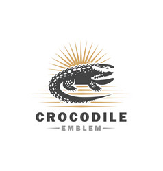 Crocodile logo design vector