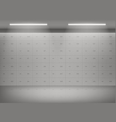 deposit safe boxes in bank vault vector image