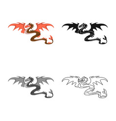 Design dragon and monster logo set of vector