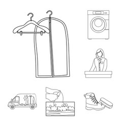 design of laundry and clean logo set of vector image