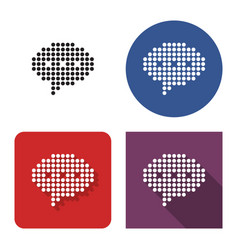 dotted icon elliptical speech bubble in four vector image