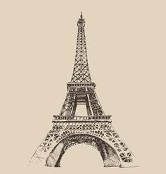 Eiffel Tower Paris France architecture vintage e vector image