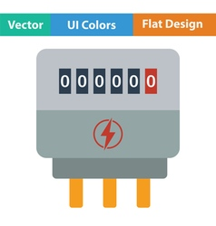 Electric meter icon vector image
