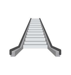 escalator icon flat style vector image