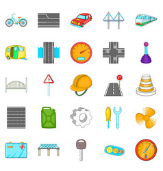 Gateway icons set cartoon style vector
