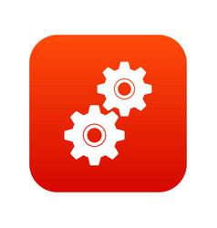 gear icon digital red vector image