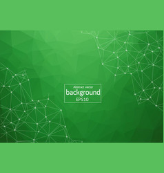 Geometric green polygonal background molecule and vector