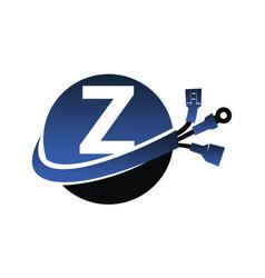 Global electricity letter z vector
