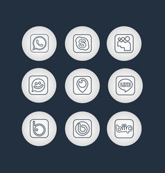 Golden social network icons with black background vector