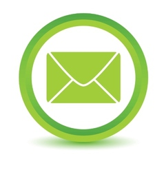 Green mail icon vector image