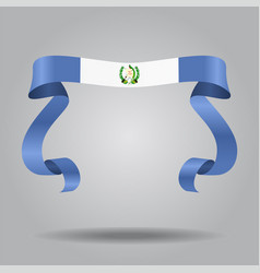 guatemalan flag wavy ribbon background vector image